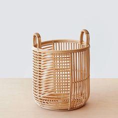 Java Rattan Baskets - Low or Medium – The Citizenry Rattan Planters, Rattan Basket, Basket Bag, Win A House, Hinoki Wood, Cane Baskets, Wood Ladder, Rattan Furniture, Office Furniture