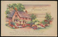 c1920s MOTHER'S DAY Postcard ~ Beautiful Country Scene