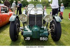 A Vintage MG sports car at a classic car rally, Wallingford, Oxfordshire, UK - Stock Image