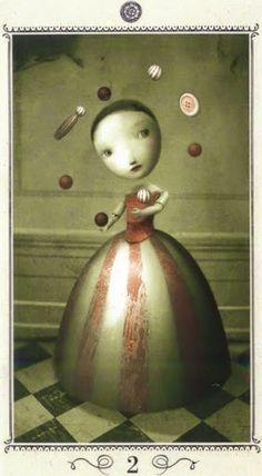 Nguy cơ Lá Two of Pentacles - Nicoletta Ceccoli Tarot bài tarot