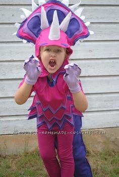 Coolest Handmade Triceratops Costume