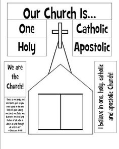 Lesson 8 - Look to Him and be Radiant: We are the Church Craft Catholic Schools Week, Catholic Religious Education, Catholic Catechism, Catholic Religion, Catholic Kids, Catholic Crafts, Catholic Sacraments, Ccd Activities, Religion Activities