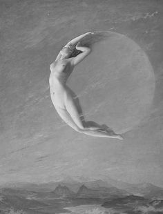 LAdy in the moon