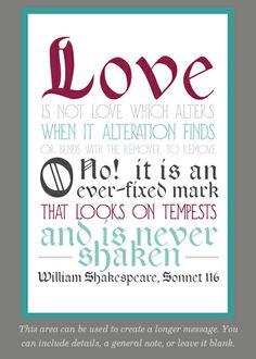 Shakespearean Love Sonnet designed by April Starr on Celebrations.com