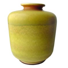 Large Yellow Stoneware Vase by Berndt Friberg for Gustavsberg | From a unique collection of antique and modern ceramics at https://www.1stdibs.com/furniture/dining-entertaining/ceramics/