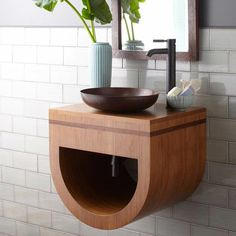Buy the Native Trails Caramel Bamboo Direct. Shop for the Native Trails Caramel Bamboo Halcyon Wall Mounted Vanity Set with Wood Cabinet, One Vessel Sink, One Mirror and Drain Assembly and save. Small Space Storage, Small Bathroom Storage, Bathroom Organization, Bathroom Cleaning, Bamboo Wall, Bathroom Vanity Cabinets, Bath Cabinets, Kitchen Cabinets, Wall Mounted Vanity