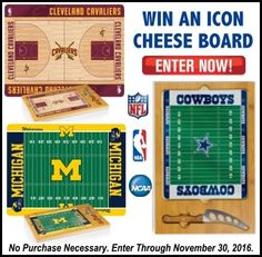 Win an Icon Cheese Board!Valued at $65!  (Choose Your Team) via  http://virl.io/RJScdRFB #win