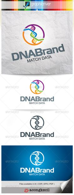 DNA Brand – Template Logo by Romaa Roma, via Behance