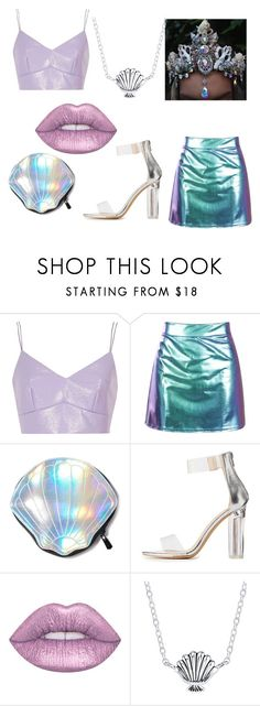 """HCL - Mermaid Costume"" by disneyboundgirl01-2 ❤ liked on Polyvore featuring River Island, Circus by Sam Edelman, Charlotte Russe, Lime Crime and Disney"