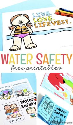 And swimming can lead to dangerous situations if you're not familiar with water safety! Summer Safety, Safety Week, Safety Tips, Summer Activities For Kids, Lessons For Kids, Educational Activities, Preschool Activities, Educational Leadership, Safety Crafts