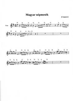 magyar népmesék Piano Sheet, Sheet Music, Ukulele, Violin, Music Decor, Kids Songs, Language, Education, Learning