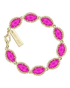 Jana Bracelet in Magenta - Kendra Scott Jewelry. Available January 22, 2014.