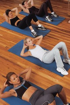 Floor Basic Ab Crunch Exercise