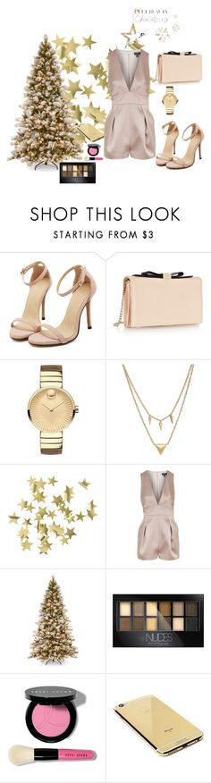 """""""Untitled #198"""" by sanela-o ❤ liked on Polyvore featuring See by Chloé, Movado, Edge of Ember, H&M, Topshop, Maybelline, Bobbi Brown Cosmetics and Goldgenie"""
