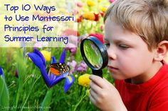 10 ways to use Montessori principles for summer learning! {Living Montessori Now} Nature Activities, Summer Activities, Toddler Activities, Learning Activities, Educational Activities, Outdoor Activities, Herbalife, Montessori Preschool, Preschool Education