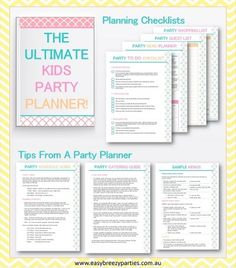 Party Planning Checklist For Baby Showers Bridal Showers And