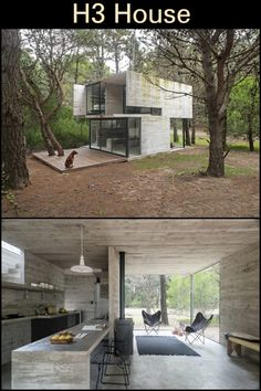 Made of concrete and glass, H3 House exemplifies classy simplicity.