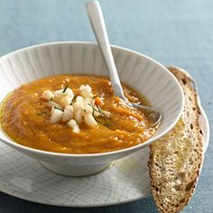 Heart-Healthy Recipes for 2013—Carrot-Ginger Soup. Since cholesterol is found in many animal products, this creamy veggie-based soup keeps the cholesterol count low.