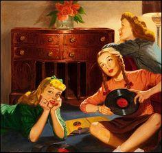 Record Party, Magnavox Corporation Ad, 1948.