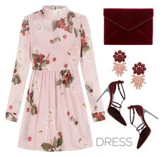 """""""Party dress"""" by maria-maldonado ❤ liked on Polyvore featuring RED Valentino, Brian Atwood, Rebecca Minkoff, MANGO and partydress"""