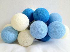 Lichterkette #Himmel mit 20 Baumwolle Kugeln cotton ball