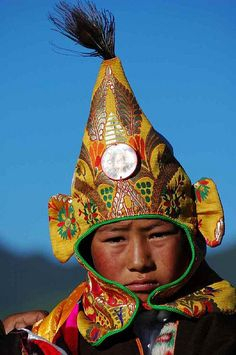 Tibetan boy in traditional costume