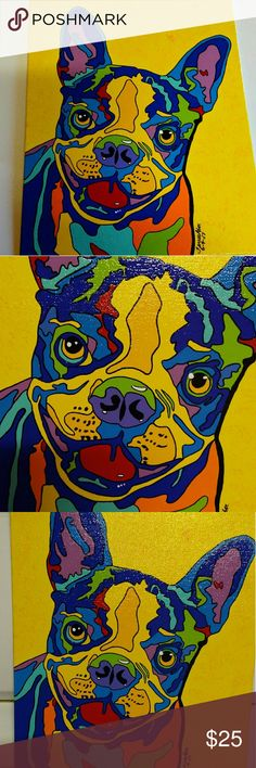 Whimsical Pop Art dog on 8x10 canvas Cutie whimsical pop art dog painted on 8 X 10 flat canvas Accessories