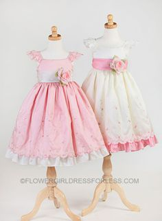 CK_837 - Flower Girl Dress Style 837- Choice of Color - $29.99- $39.99 - Flower Girl Dress For Less