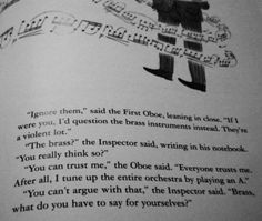 you can always trust the first oboe... - music humor