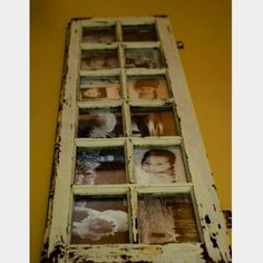 Love this idea for a window as a picture frame...repurposing by lori