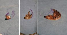 Tiny Embroidered Animals by Chloe Giordano illustration embroidery animals http://karenin.tumblr.com/