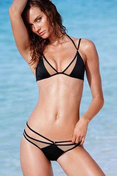 305b340373119 Sexy Mesh Hollow-out Black Bikini  swimwear  swimsuit  fashion  Bikini This