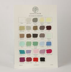 Lignocolor Old Shabby Chic Farbtonkarte: Amazon.de: Baumarkt