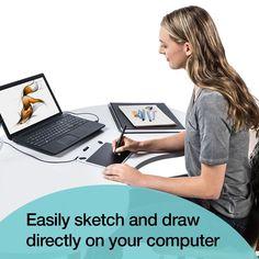 Wacom Intuos Draw CTL490DW Digital Drawing and Graphics Tablet Draw Paint Edit #Wacom
