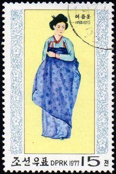 Korea Stamp: Costume for summer (Korea, North) (National costumes of Li dynasty)