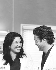 Callie's and Derek's friendship. Grey's Anatomy.