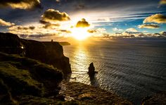 Sunset Cliffs of Moher[51013239][oc] #reddit