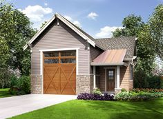 garage plans This beautiful Craftsman RV garage is loaded with style and good roofing tops the man door at the there's a walk-in storage closet and room for two vehicles in a tandem ce Rv Garage Plans, Boat Garage, Garage Shop, Carport Garage, Garage Workbench, Design Websites, Garage Door Design, Garage Doors, Garage Signs
