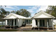modern, beach cottage, weatherboard, white, porch,
