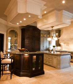 Spacious luxury kitchen with a Mediterranean style throughout . . Several more designs <3
