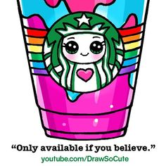 """5 mentions J'aime, 1 commentaires - Draw So Cute (@drawsocutebywennie) sur Instagram: """"Starbucks Unicorn Frappuccino now also available at youtube.com/drawsocute. ;) Enjoy!!…"""""""