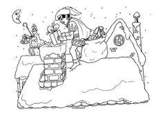 zwarte piet schoorsteen tekening - Google zoeken