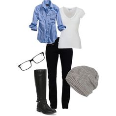 """""""Black Riding Boots #4"""" by mayrabarragan on Polyvore"""