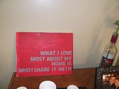 Quote on canvas