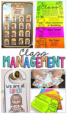 Class Management tools for the primary classroom that your class will respond to and enjoy using daily! Your class will love having and using these FUN class jobs, transitions, reward coupons, schedule cards, breaks, fast finishers, awards, and rules.