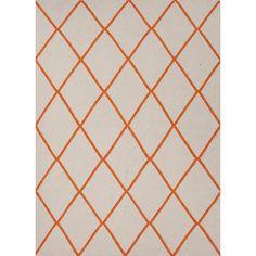 Geometric Rug 109x170 Orange, 125€, now featured on Fab.