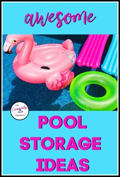Looking for pool storage ideas? It's hot! If you have a pool, I bet it's getting a lot of use now. Here are awesome pool storage ideas to keep it organized! Graduation Party Foods, Graduation Party Planning, Graduation Gifts, Pool Float Storage, Pool Toy Storage, Attic Storage, Ways To Recycle, Repurpose, Diy Bird Feeder