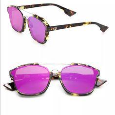 Dior Sunglasses Tortoise Purple Mirror Lenses NWT Dior Sunglasses Tortoise  Purple Mirror Lenses. CHRISTIAN DIOR e03b12b6259f
