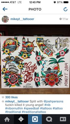 Traditional tattoo flash @tattoosbymikeyt