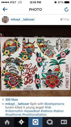 51 Ideas Tattoo Old School Traditional Flash Art Style Traditional Tattoo Inspiration, Traditional Tattoo Design, Sailor Jerry, Time Tattoos, Body Art Tattoos, Sparrow Tattoo Design, Tattoo Coloring Book, Adventure Tattoo, American Tattoos